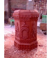 Red Sandstone Carved Tulsikyara