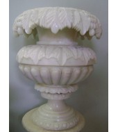 Carved Modern Marble Flower Vase