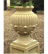 Hand Carved Sandstone Vase