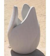 Large White Sandstone Pot