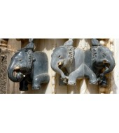 Animal Figure Marble Sculptured Wall Hanging