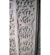 Antique Carved Sandstone Wall