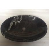 Black Oval Granite Washbasin