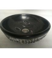 Black Round Granite Washbasin