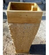 Yellow Sandstone Standing Washbasin