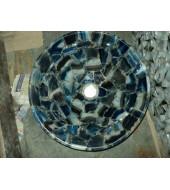 Blue Agate Round Washbasin