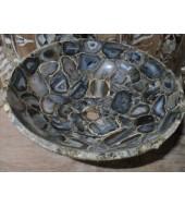 Blue Agate Round Shape Washbasin