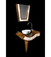 Designer White Quartz Counter Top White Washbasin