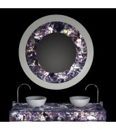 Amethyst Dark Counter Top White Washbasin