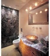 Purple Quartz Counter Top Yellow Washbasin