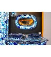 Brazil Blue Agate Counter Top Washbasin