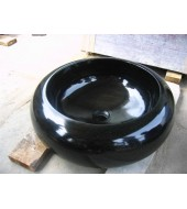 Round Black Marble Washbasin