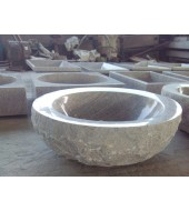 Round White Marble Washbasin