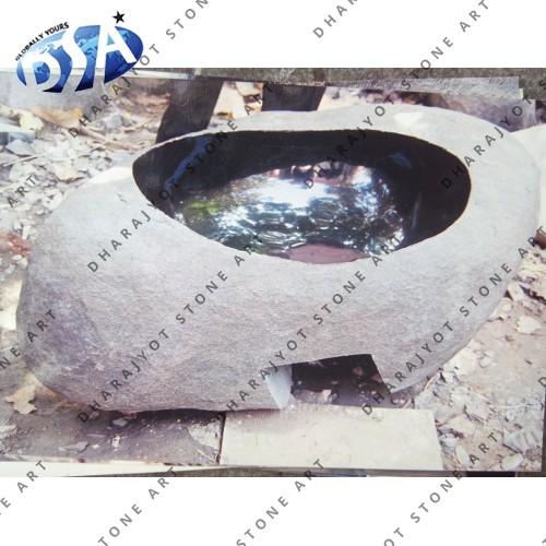 Antique Black Marble Washbasin