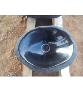 Black Marble Oval Polished Washbasin
