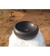 Black Polished Round Washbasin