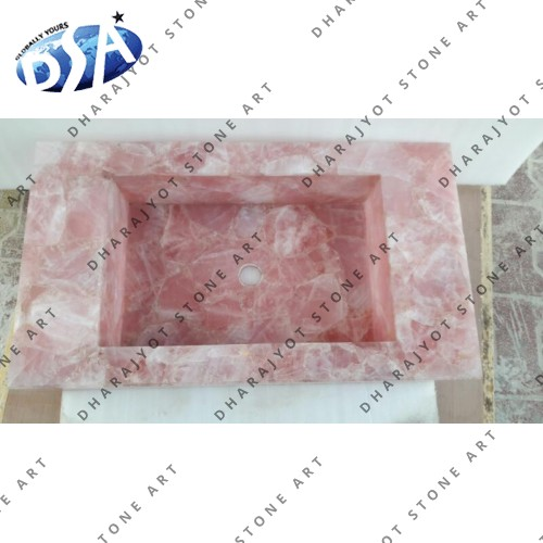 African Rose Quartz Washbasin