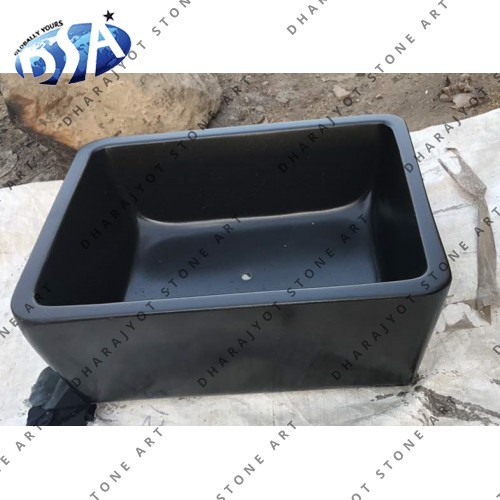 Black Granite Custom Design Washbasin