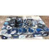 Blue Agate Quartz Washbasin