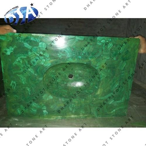 Malachite Pattern Quartz Washbasin