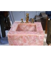 Pink Square Quartz Washbasin