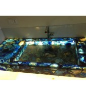 Blue Agate Gava Quartz Washbasin