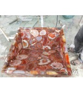Brazil Red Agate Quartz Washbasin