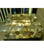 Natural Yellow Crystal  Quartz Washbasin