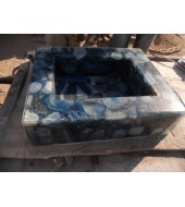 Blue Onyx Quartz Washbasin