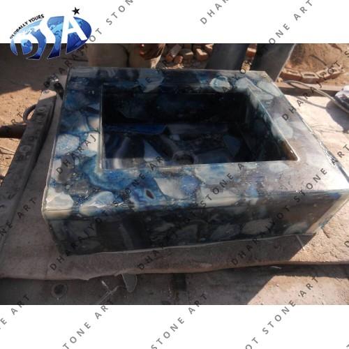 Blue Onyx Quartz Washbasin