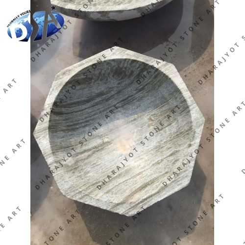 Green Marble Polished Washbasin Sink