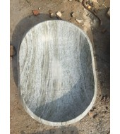 Green Marble Polished Oval Washbasin Sink