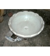 White Marble Round Washbasin
