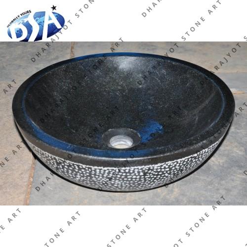 Antique Black Granite Stone Cabinets Washbasin