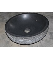 Antique Black Granite Stone Round Washbasin