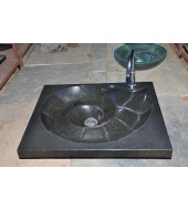 Antique Polished Black Granite Sink